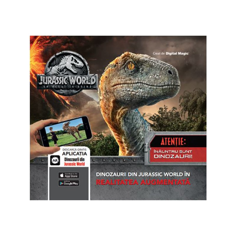 Carte editura Litera, Jurassic World. Un regat in ruina, Realitatea Augmentata