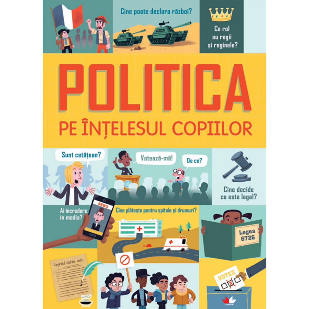 Carte Editura Litera, Politica pe intelesul copiilor