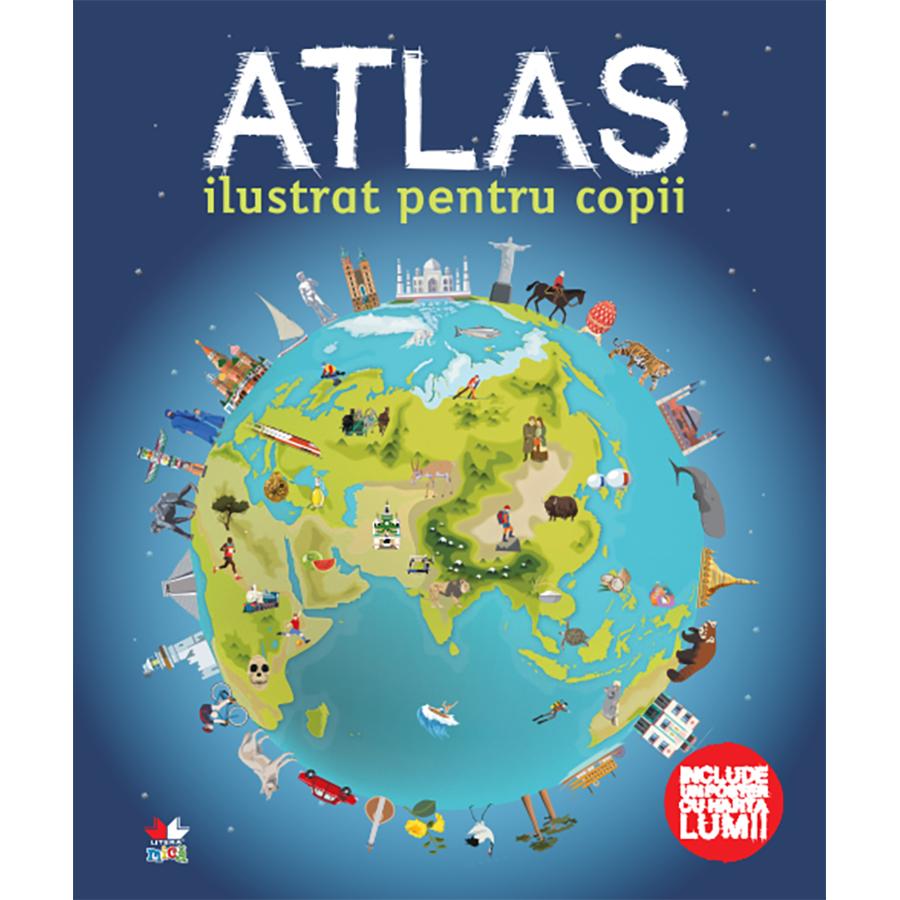 Carte Editura Litera, Atlas ilustrat pentru copii