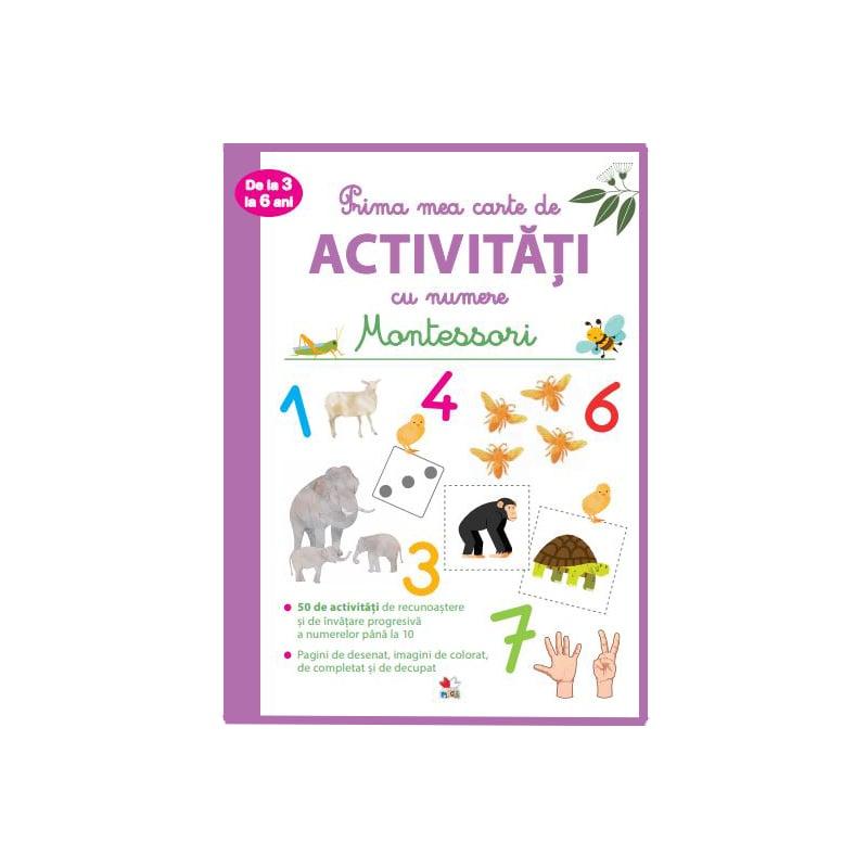 Prima mea carte de activitati cu numere, Montessori