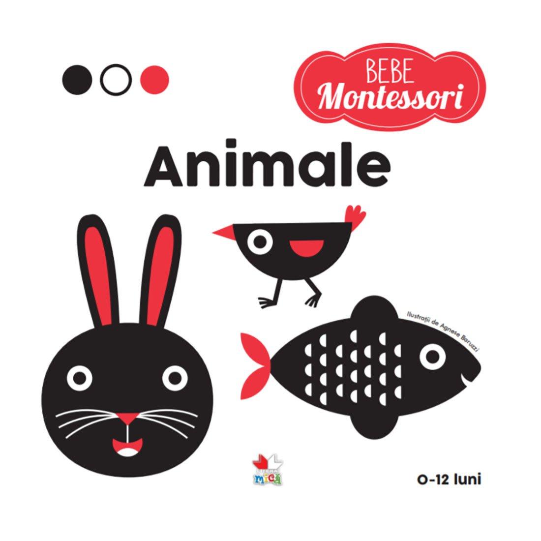Carte Editura Litera, Montessori, Animale, 0 - 12 luni