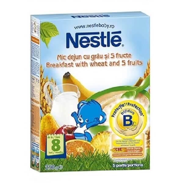 cereale nestle mic dejun cu grau si 5 fructe, 250g