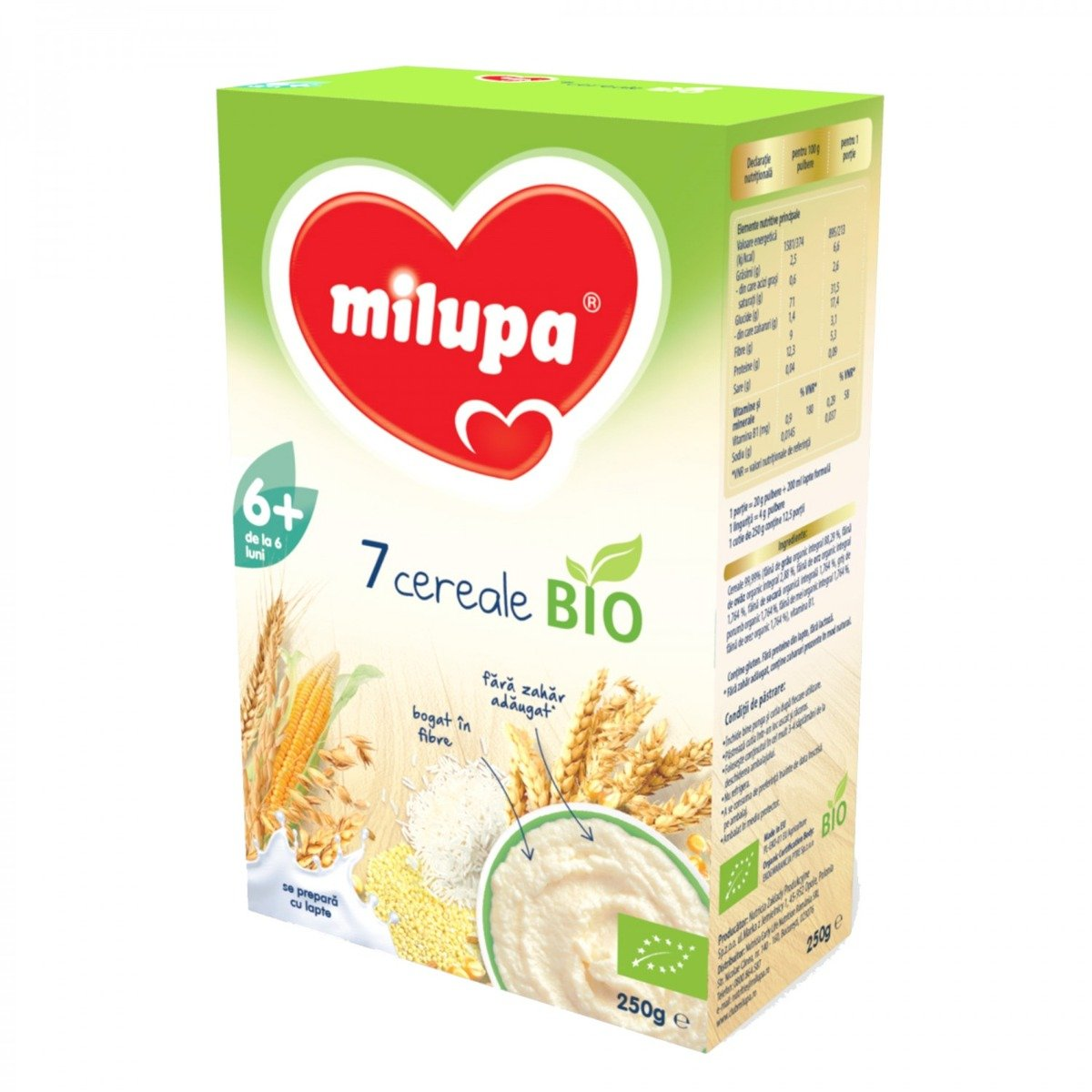 Cereale Milupa - 7 cereale, 250g
