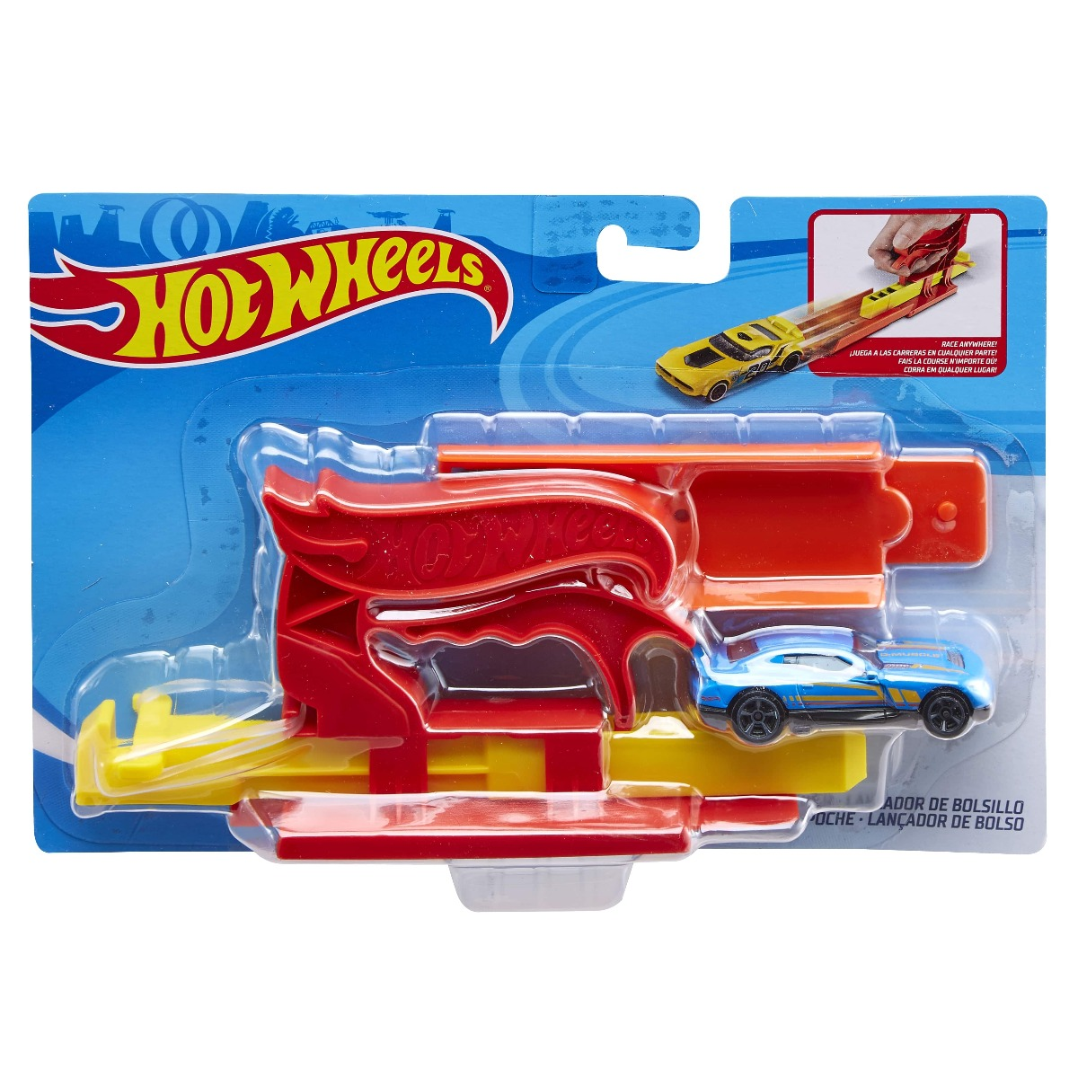Set circuit si masinuta Hot Wheels, FTH84