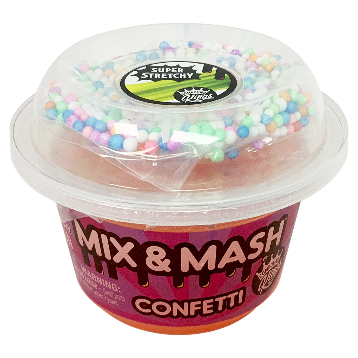 Compound Kings - Slime Mix and Mash Yocups, Confetti, 180 g