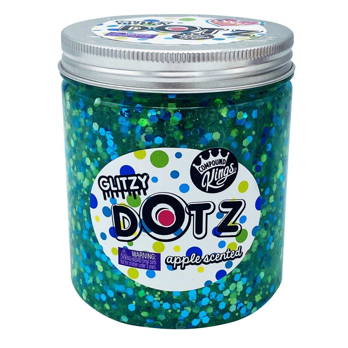 Gelatina Compound Kings - Glitzy Dotz Slime, Apple, 425 g
