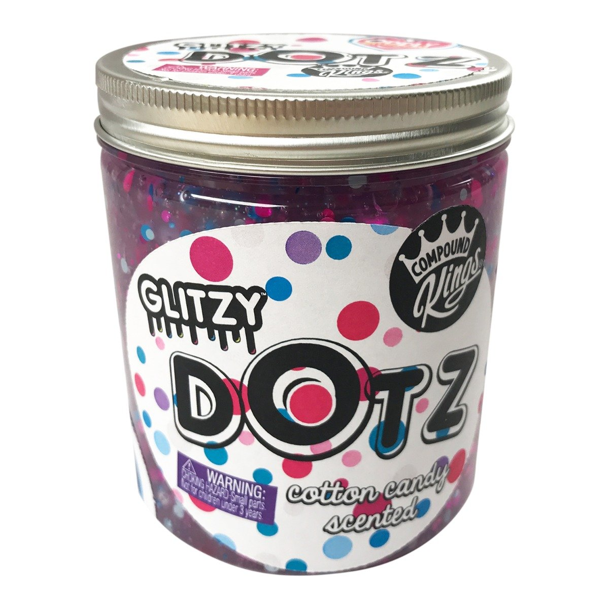 Gelatina Compound Kings - Glitzy Dotz Slime, Cotton Candy, 425 g
