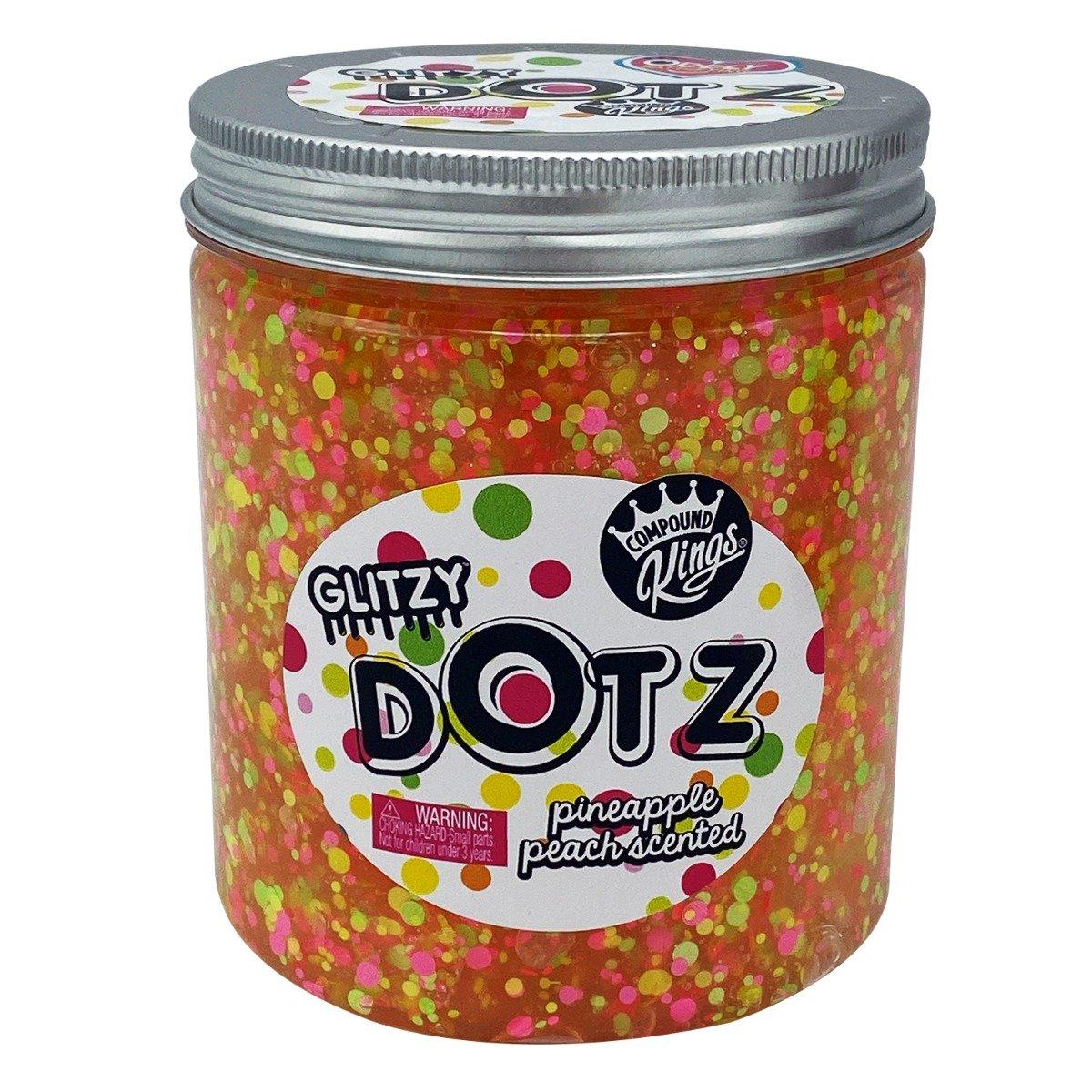 Gelatina Compound Kings - Glitzy Dotz Slime, Pineapple Peach, 425 g imagine