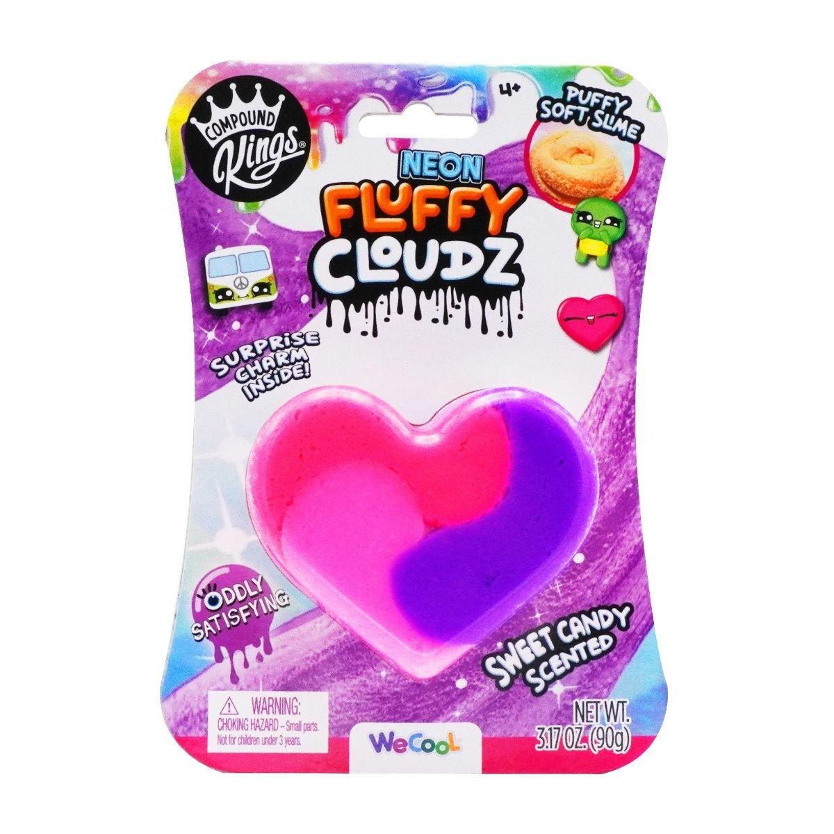 Slime parfumat cu surpriza, Compound Kings, Neon Fluffy Cloudz, Sweet Candy, 90 g