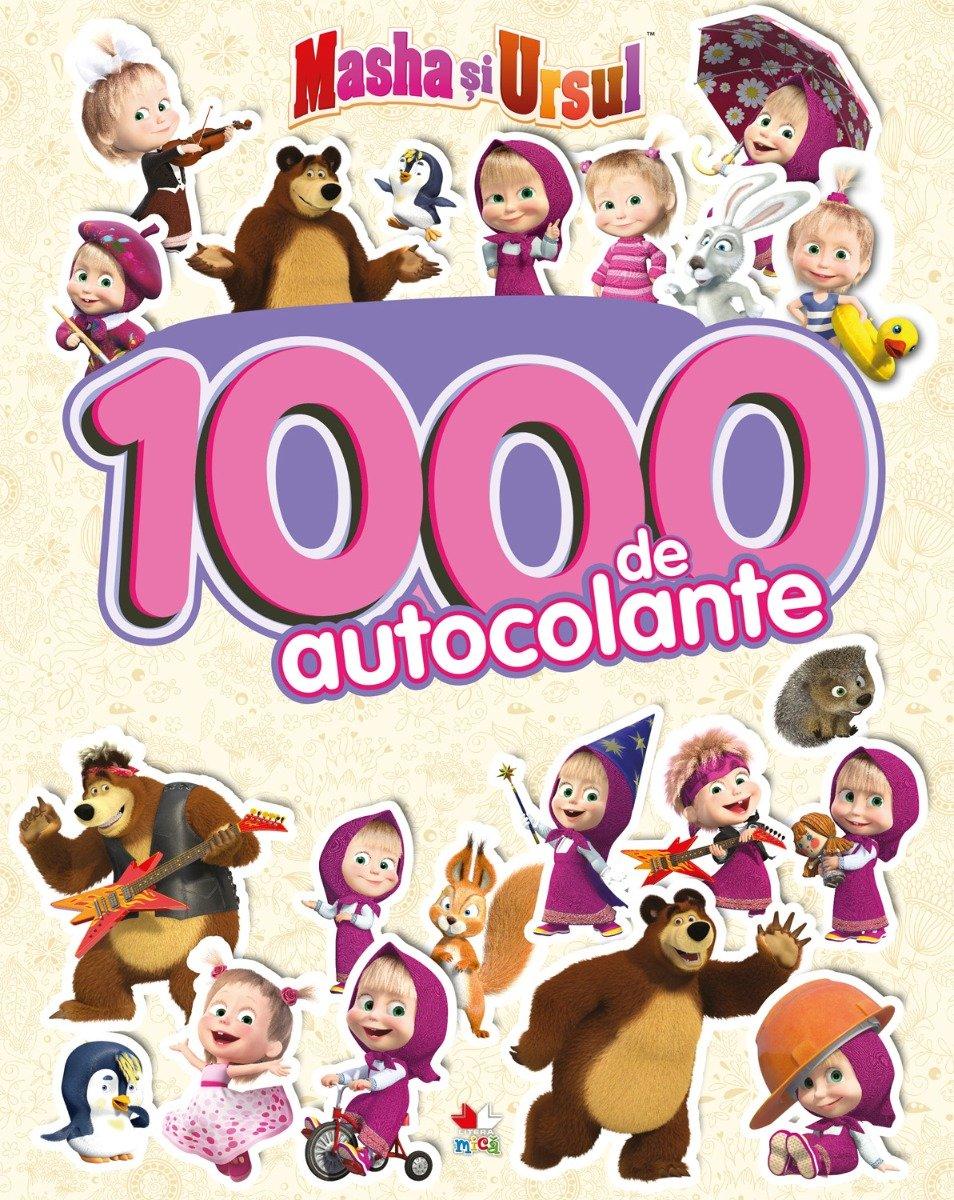 Cartea cu 1000 de autocolante Masha si Ursul - Editura Litera