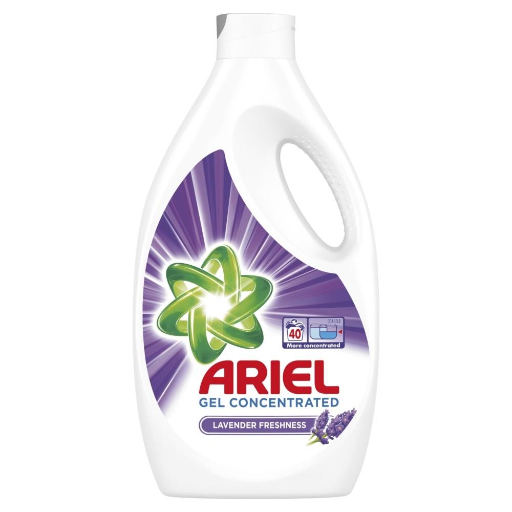 Detergent Ariel Lichid Lavanda 40 Spalari, Gel 2.2 l imagine