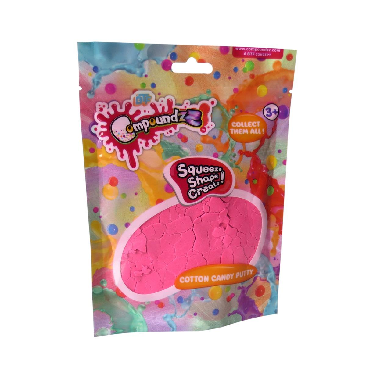 Punguta cu pasta modelatoare Compoundzz, Cotton Candy Putty