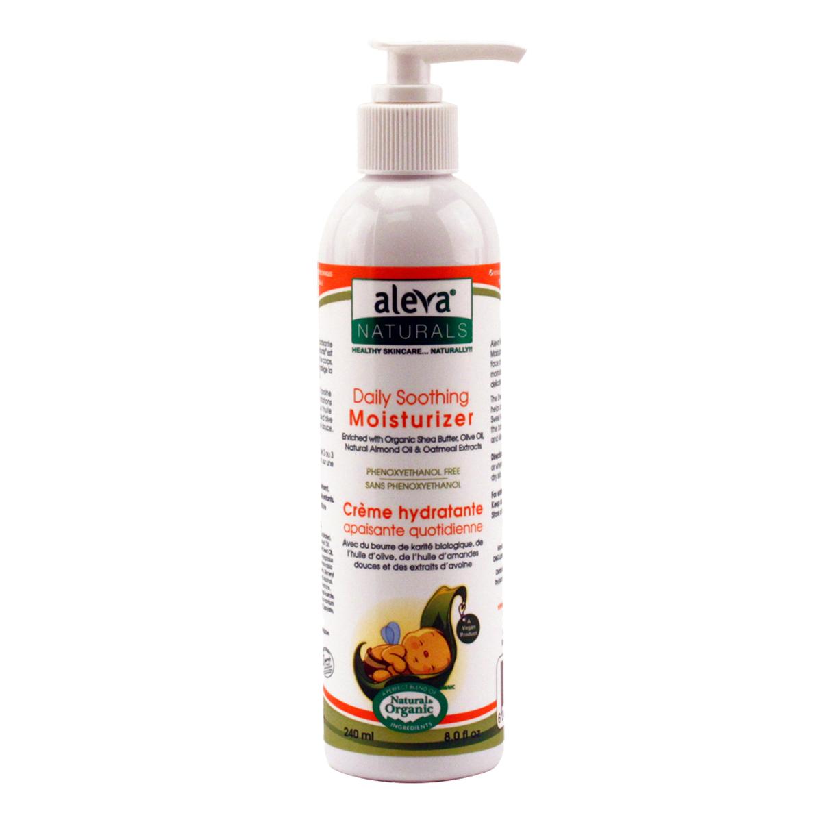 crema hidratanta pentru utilizare zilnica aleva naturals, 240 ml