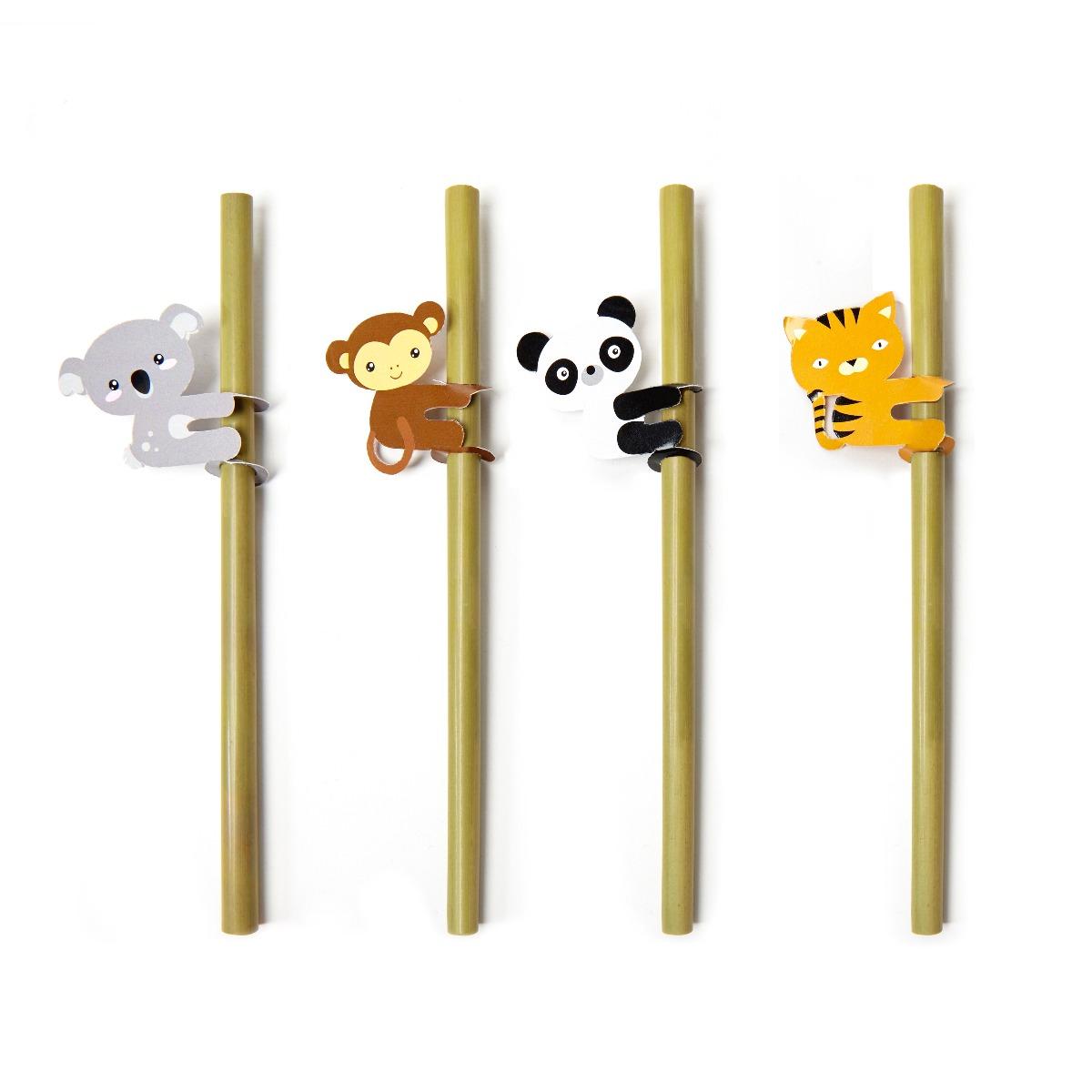 Set 4 paie Bamboo - Animale imagine