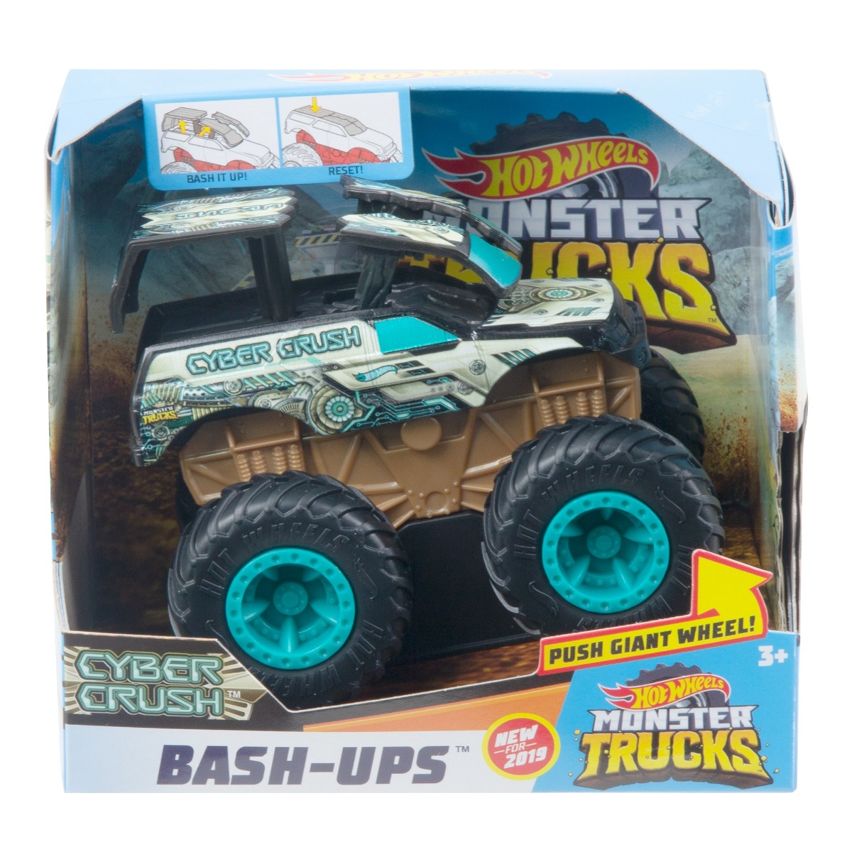 Masinuta Hot Wheels Bash Ups, Cyber Crush GCF97