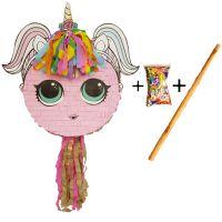 Pinata cu bat si confetti Fetita Unicorn, PinaStar