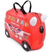 0186-GB01_001w Valiza pentru copii Ride-On Autobuz Boris, Rosu, 46 cm