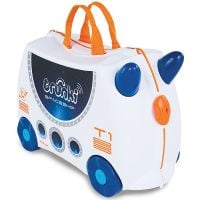 0311-GB01_001 Valiza pentru copii Trunki Ride-On Skye The Spaceship, Alb