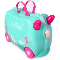 0324-GB01_001w Valiza pentru copii Ride-On Flora Fairy Trunki, Turcoaz, 46 cm
