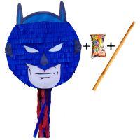 Pinata cu bat si confetti Supererou, PinaStar
