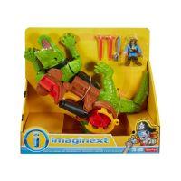 0887961219272 DHH63_001w Figurina crocodil, Imaginext, cu pirat