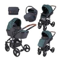 Set Carucior Lorelli Rimini, cos landou separat, Black Leaves