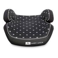 1007133 2013_001 Inaltator auto Lorelli Safety Junior Fix, 15-36 Kg, sistem de ancorare, Black Crowns