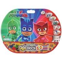Set desen si accesorii Pj Masks Giga Block 5 in 1