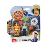 109251026038_002w Set 2 figurine articulate Pompierul Sam, Ellie si Penny, 7.5 cm