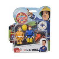 109251026038_003w Set 2 figurine articulate Pompierul Sam, Arnold si Sam, 7.5 cm