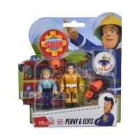 109251026038_005 Set 2 figurine articulate Pompierul Sam, Penny si Elvis, 7.5 cm