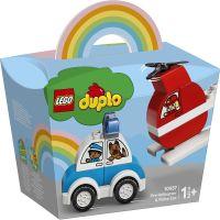 LG10957_001w LEGO® DUPLO® - Elicopter de pompieri si masina de politie (10957)