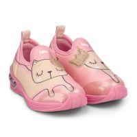 1132066 Pantofi sport Bibi Shoes Led Space Wave Kitty, Roz 1132066