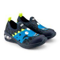1132099 Pantofi baieti Led Bibi Space Wave 2.0 Blue Dino