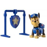 Figurina si insigna Paw Patrol, Pull Back Chase