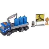 1417072 Albastru Camion cu accesorii de constructie Teamsterz, Albastru