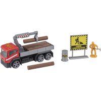 1417072 Rosu Camion cu accesorii de constructie Teamsterz, Rosu