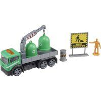 1417072 Verde Camion cu accesorii de constructie Teamsterz, Verde
