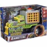 1417115 Verde Masinuta cu lumini si sunete Teamsterz, Monster Dino Escape, Verde