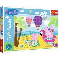 Puzzle 24 piese, Trefl Maxi, Vacanta lui Peppa