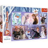 Puzzle 24 piese, Trefl Maxi, O lume plina de magie, Disney Frozen 2