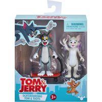 14450 14464 Set 2 figurine Tom and Jerry Skateboarding, Tom and Toots , S1, 8 cm