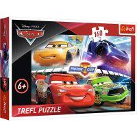 Puzzle 160 piese, Trefl, Castigand cursa, Disney Cars 3