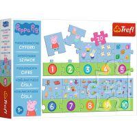 Puzzle educational 20 piese, Trefl, Numerele cu Peppa Pig