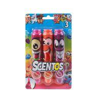 17192_001w Set 3 markere parfumate Scentos - roz, portocaliu, mov