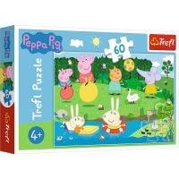 Puzzle 60 piese, Trefl, Distractie in vacanta cu Peppa Pig