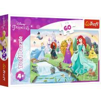 Puzzle 60 piese, Trefl, Fa cunostinta cu printesele Disney Princess