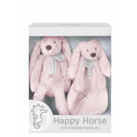 17668_001w Set jucarii de plus Happy Horse, Iepurasul Richie Pink, 33 cm