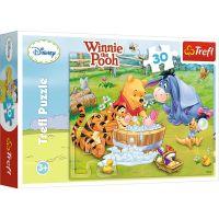 Puzzle 30 piese, Trefl, Piglet face baie, Disney Winnie The Pooh