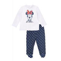 20190109A Set pantaloni si bluza cu imprimeu Disney Minnie Mouse, Albastru